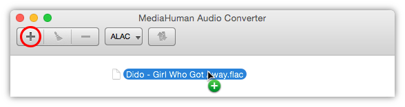 Add FLAC files you want to convert