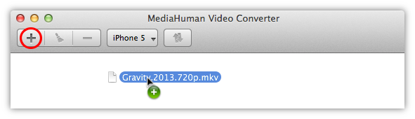 Add video file you want to convert