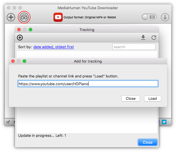 Paste link into the YouTube Downloader