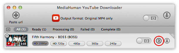 Add all the videos from a playlist to the download queue