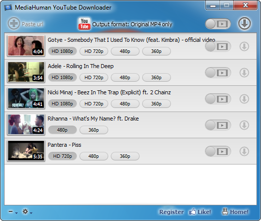 Click to view MediaHuman YouTube Downloader 3.5.3 screenshot