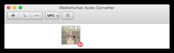Добавьие альбомы из iTunes для конвертации
