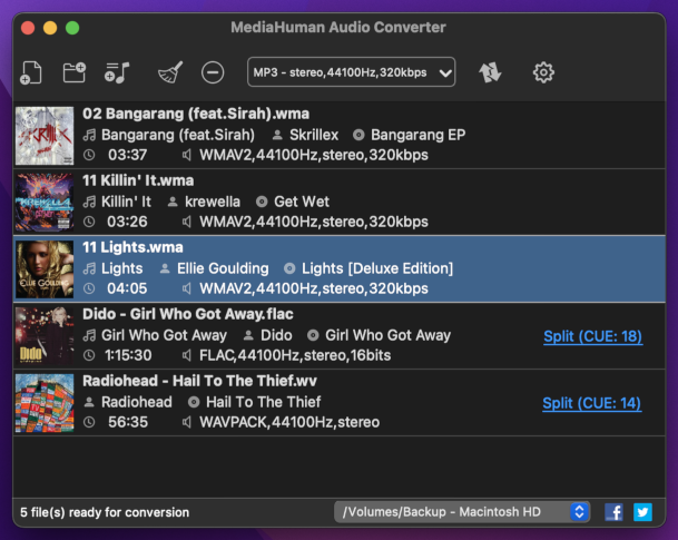 Free audio converter for macOS and Windows