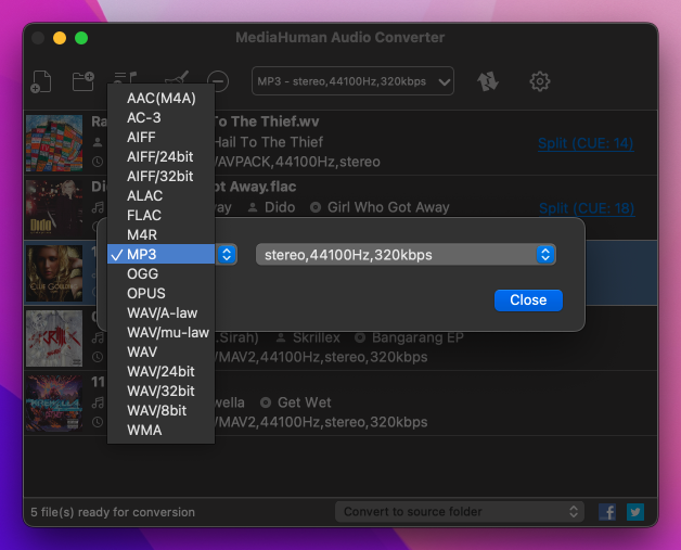 any audio converter mac free