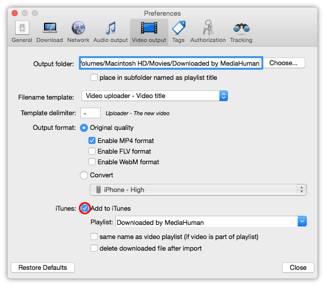 Downloading youtube videos to itunes in 5 simple steps enable add to itunes option ccuart Gallery