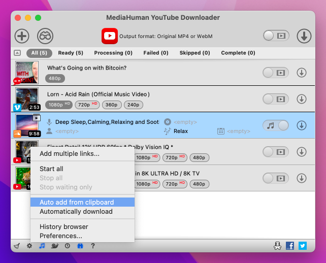 youtube downloader human
