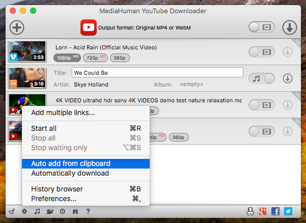 MediaHuman YouTube Downloader - feature-rich app to download