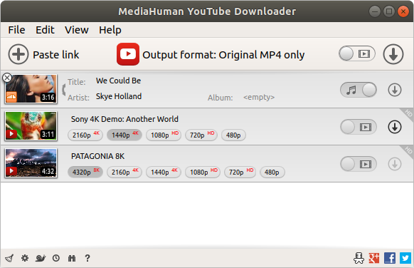 Ubuntu youtube downloader.