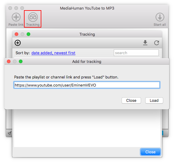Paste link into the YouTube To MP3 Converter